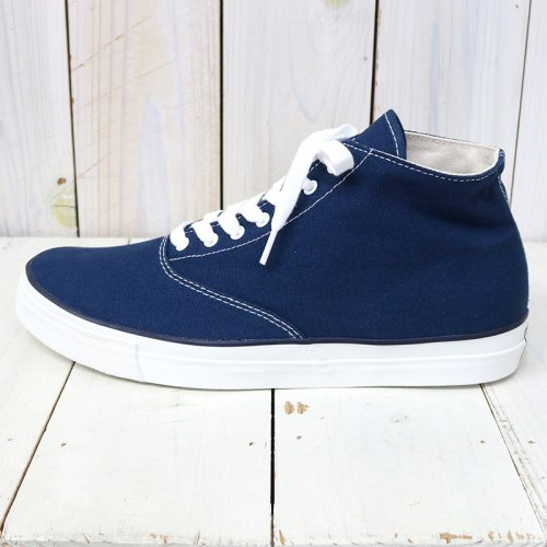 『WAKOUWA DECK SHOES HI』(NAVY)