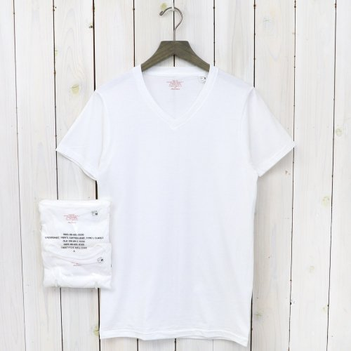 ANATOMICA『2PACK TEE SUPIMA V-NECK』(White)