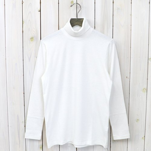 ANATOMICA『TURTLE NECK TEE L/S』(White)