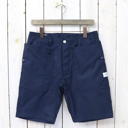 SASSAFRAS『FALL LEAF SPRAYER PANTS 1/2(T/C AMERICAN OXFORD)』(NAVY)