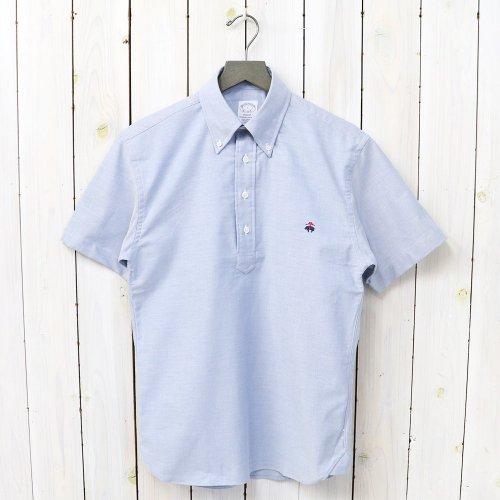 Brooks Brothers『スーピマコットン GF オックスフォード ショートスリーブ プルオーバーシャツ-Regent Fit』(Solid Blue)