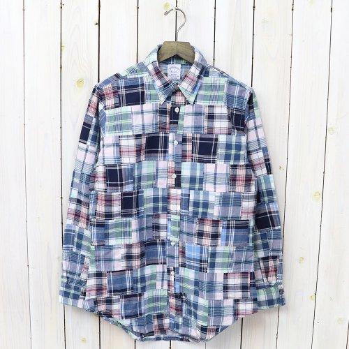 【SALE特価30%off】Brooks Brothers『インディアコットン マドラスチェック パッチワーク ボタンダウンシャツ-Regent Fit』(Multi)