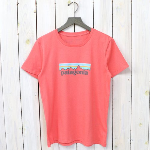 patagonia『W's Pastel P-6 Logo Organic Crew T-Shirt』(Spiced Coral)