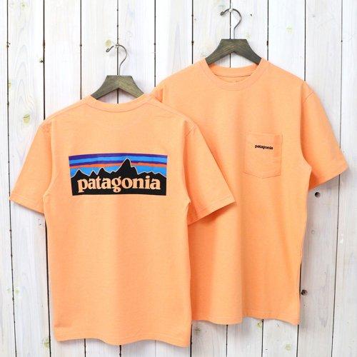 patagonia『M's P-6 Logo Pocket Responsibili Tee』(Peach Sherbet)