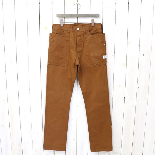 『FALL LEAF PANTS(HERRINGBONE)』(BROWN)
