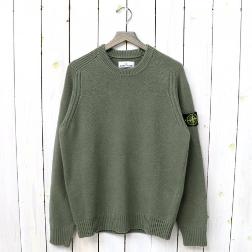 『CREW NECK KNIT』(MILITARY GREEN)
