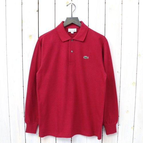 『ポロシャツ(長袖)』(バーガンディー)