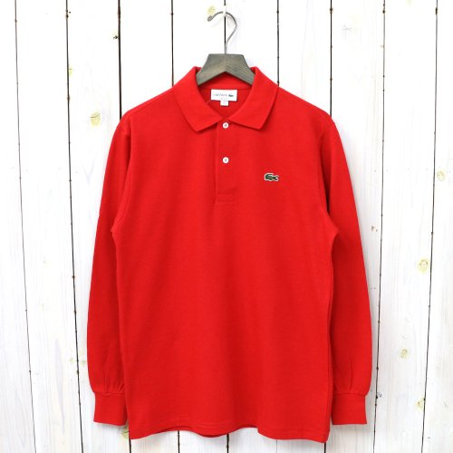 LACOSTE『ポロシャツ(長袖)』(レッド)