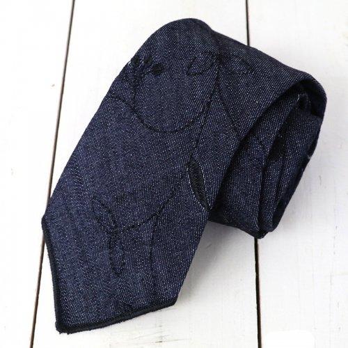 『Neck Tie-Floral Embroidery Denim』