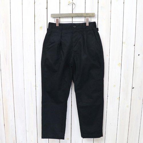 『Ground Pant-Cotton HB Twill』(Black)