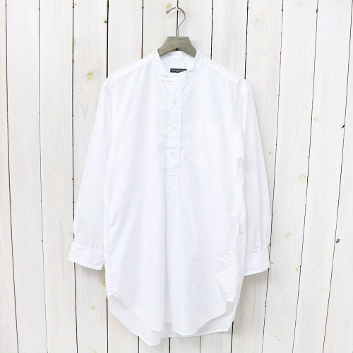 『Banded Collar Shirt-100's 2Ply Broadcloth』(White)