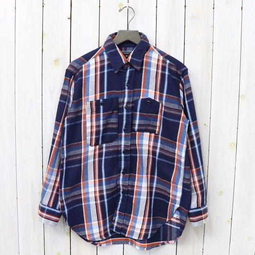 『Work Shirt-Twill Plaid』(Navy/Orange/Lt.Blue)