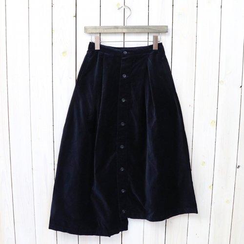 ENGINEERED GARMENTS『Tuck Skirt-Cotton Velveteen』(Navy)
