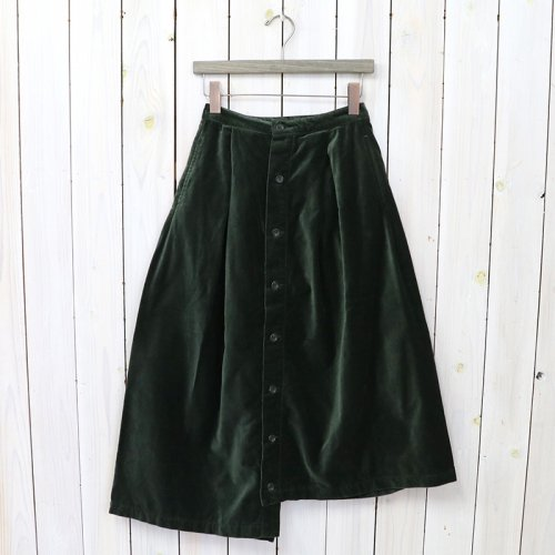 ENGINEERED GARMENTS『Tuck Skirt-Cotton Velveteen』(Olive)