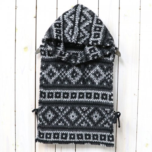 『Hooded Interliner-Fair Isle Sweater Knit』