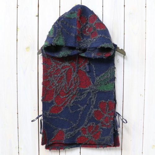 『Hooded Interliner-Floral Knit Jacquard』(Navy/Red)