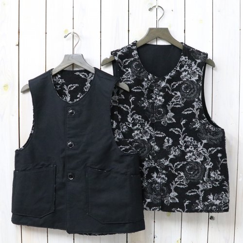 ENGINEERED GARMENTS『Over Vest-Cotton Double Cloth』(Black)