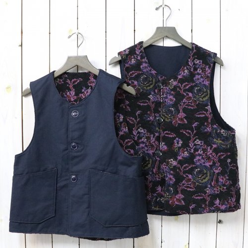 『Over Vest-Cotton Double Cloth』(Navy)
