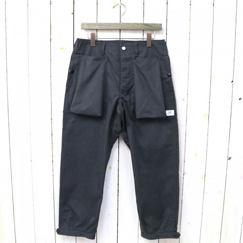 SASSAFRAS『DIGS CREW PANTS 4/5(T/C AMERICAN OXFORD)』(CHARCOAL)