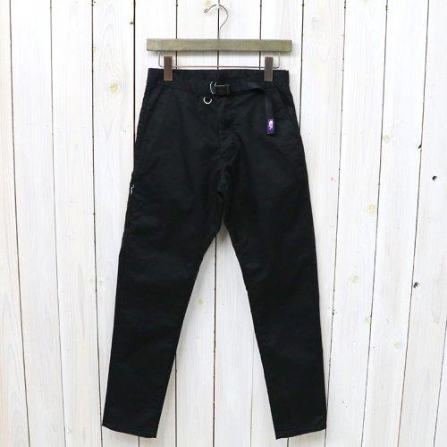 『Stretch Twill Tapered Pants』(Black)