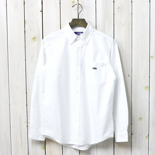 THE NORTH FACE PURPLE LABEL『Cotton Polyester OX B.D. Shirt』(White)