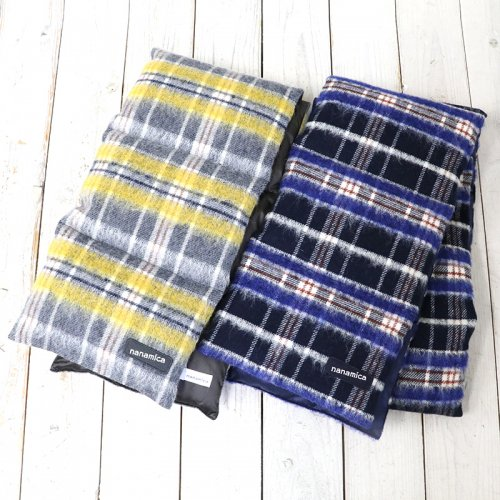 『Wool Check Down Muffler』