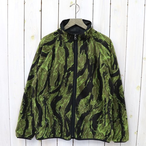 『Warm-Up Piping Jacket-Poly Fleece/Tiger Camo Stripe』
