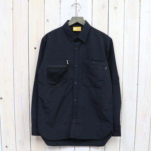 『SUPPLEX Nylon Gardener Shirt by GRIP SWANY』(Black)