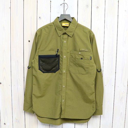 【SALE特価60%off】hobo『SUPPLEX Nylon Gardener Shirt by GRIP SWANY』(Olive)