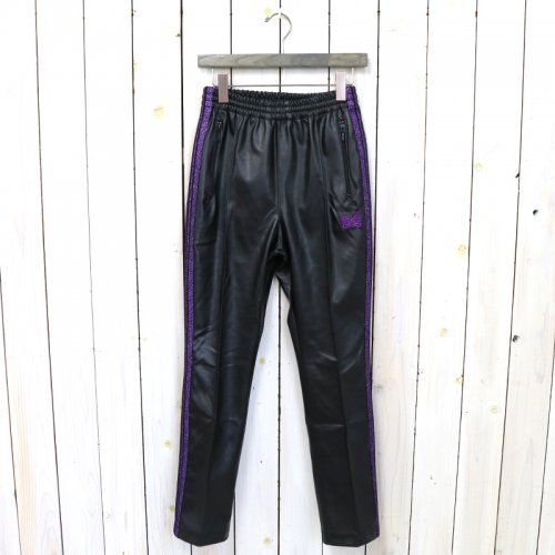 『Narrow Track Pant-Synthetic Leather/Lame Tape』(Black)