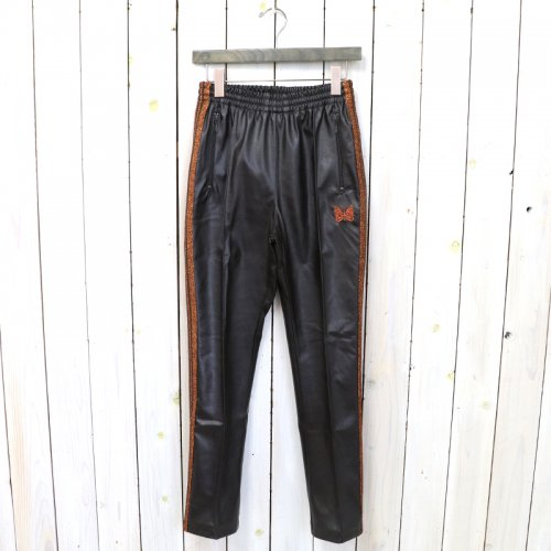 『Narrow Track Pant-Synthetic Leather/Lame Tape』(Brown)