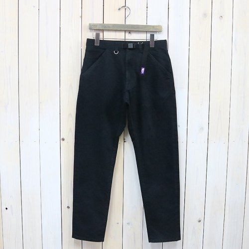 『Webbing Belt Denim Pants』(Black)