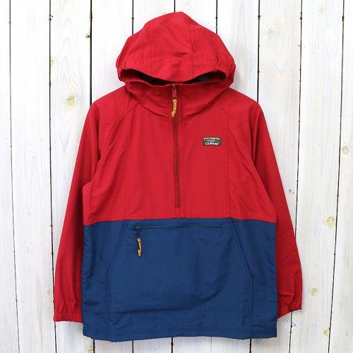 【SALE特価50%off】L.L.Bean『Mountain Classic Anorak-Colorblock-Kid's』(Nautical Red/Dark Mariner Blue)