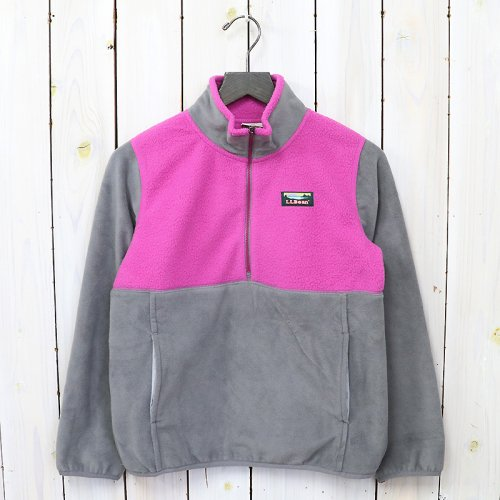 L.L.Bean『Katahdin Microfleece Pullover-Colorblock-Kid's』(Federal Gray/Deep Orchid)
