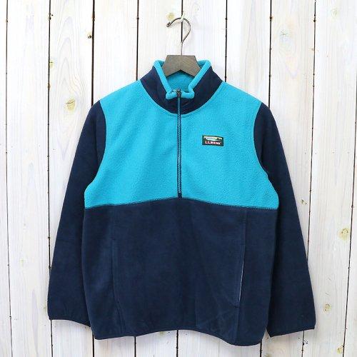 L.L.Bean『Katahdin Microfleece Pullover-Colorblock-Kid's』(Nautical Navy/Blue Pine)