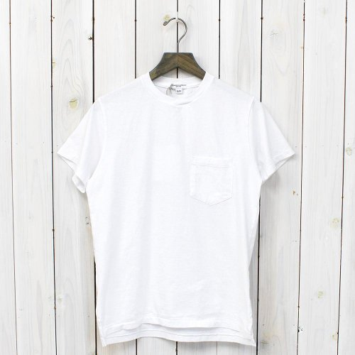 『Crossover Neck Pocket Tee』(White)