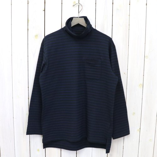 『LS Turtleneck Shirt-PC St.Jersey』(Black/Navy)
