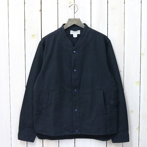 SASSAFRAS『VASE WALL JACKET(HEATHER STRIPE)』(NAVY)