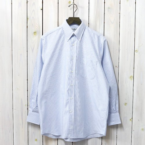 INDIVIDUALIZED SHIRTS『CANDY STRIPE(OVER SIZED L/S BD SHIRTS)』(BLUE)