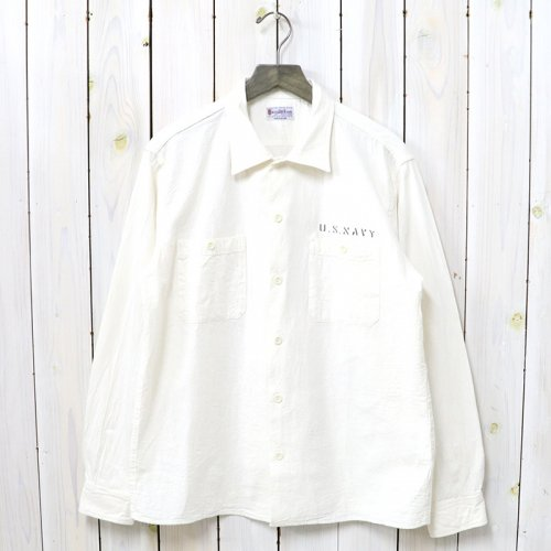 【SALE特価40%off】BUZZ RICKSON'S『WHITE CHAMBRAY WORK SHIRT STENCIL』(OFF WHITE)