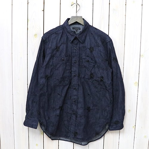 ENGINEERED GARMENTS『Work Shirt-Floral Embroidery Denim』