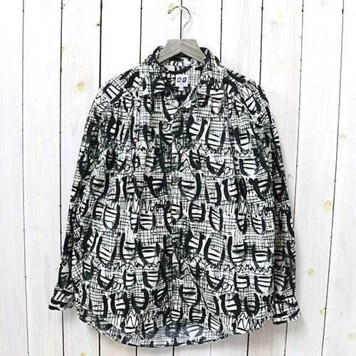 AiE『Painter Shirt-Abstract Print』(Natural/Black Shape)