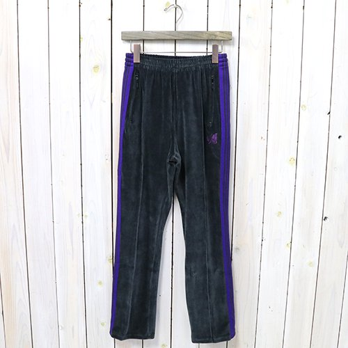 Needles『Narrow Track Pant-C/Pe Velour』(Charcoal)