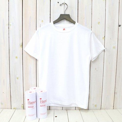 Hanes『Crew Neck T-Shirt/PREMIUM Japan Fit』(WHITE)
