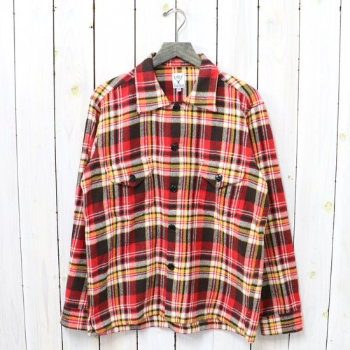 SOUTH2 WEST8『Smokey Shirt-Cotton Twill/Plaid』(Red)