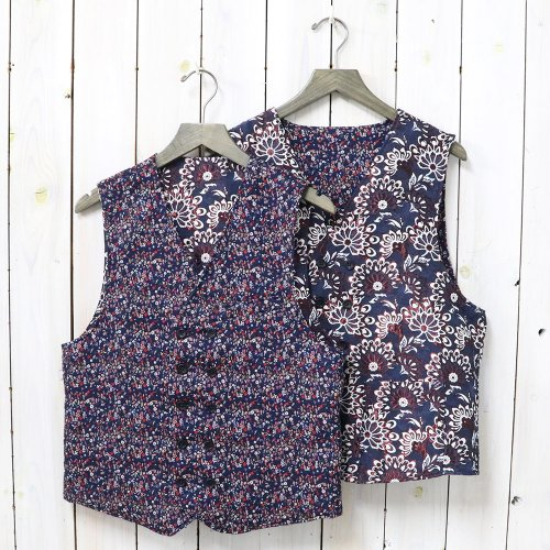 『Reversible Vest-Mini & Big Floral Jacquard』