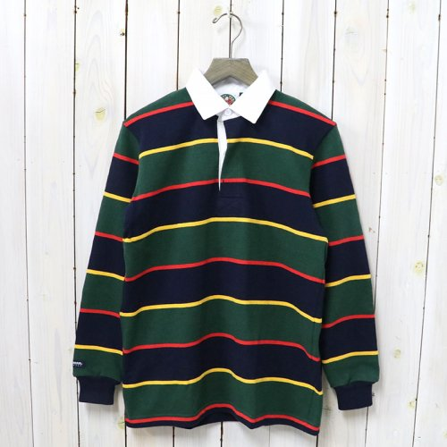 BARBARIAN『HEAVY WEIGHT RUGBY SHIRTS L/S』(NAVY/GOLD/BOTTLE/RED)