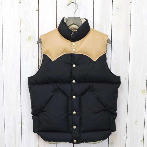 Rocky Mountain Featherbed『Down Vest』(BLACK/L.BROWN)