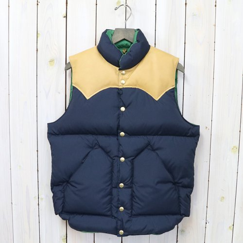 Rocky Mountain Featherbed『Down Vest』(NAVY/L.BROWN)