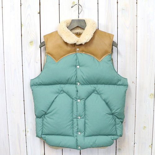 Rocky Mountain Featherbed『Christy Vest』(EMERALD/L.BROWN)
